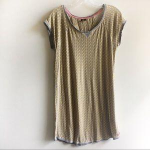 Kensie nightgown sleepwear yellow elephant print